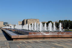 Fountain in the Victory Park on Poklonnaya Hill, Moscow, Russia Royalty Free Stock Photography
