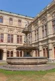 Fountain of Vienna State Opera (1869) in Vienna, Austria. Fountain of Vienna State Opera (Wiener Staatsoper, circa 1869) in Vienna, Austria. Architects August stock photo