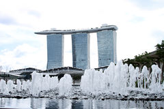 Fountain view marina bay sands day Stock Images