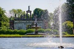 Fountain villa barbarigo. Flush fountain in the Villa Barbarigo park Valsanzibio, Padova,  Italy Royalty Free Stock Photography