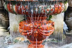Fountain in Villa Borghese gardens, Rome, Italy. Villa Borghese is a landscape garden in the naturalistic English manner in Rome, containing a number of stock photo