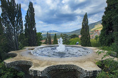 Fountain of Villa d' Este Tivoli important world heritage site and important traveling destination in central of italy Royalty Free Stock Images
