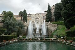 Fountain in Villa d'Este Royalty Free Stock Image