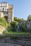 Fountain at Villa D `este in Tivoli on a Sunny summer day. The attraction of the city in Italy stock photos