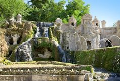 Fountain on villa de Este in Tivoli. Royalty Free Stock Photos