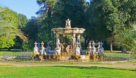 Fountain of Villa pamphili in rome Stock Image