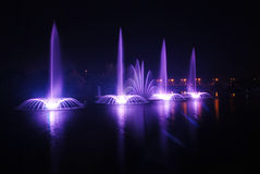 Fountain. In Vinnitsa, Ukraine, photo was made at night Royalty Free Stock Image