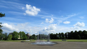 Fountain in Volkspark Enschede Royalty Free Stock Images