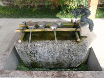 Fountain votive in Kyoto, Japan Royalty Free Stock Photography