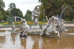 Fountain in Waddesdon Manor in England Royalty Free Stock Photos