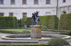 Fountain from Wallenstein Palace courtyard from Prague in Czech Republic Royalty Free Stock Images