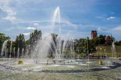 Fountain in Warsaw Royalty Free Stock Photo