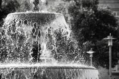Fountain, Water, Black And White, Water Feature Stock Photo