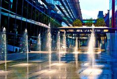 Fountain Water Feature Stock Image