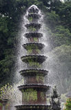 Fountain in the water Palace of Tirtagangga. Bali Royalty Free Stock Photos