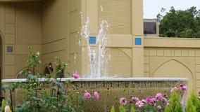 Fountain water patio garden stock footage