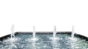 Fountain water spout spray in luxury basin Stock Images