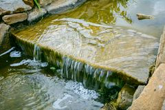 Fountain waterfall of stones royalty free stock images
