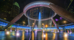 Fountain of wealth. Is the biggest fountain in Singapore Royalty Free Stock Photo