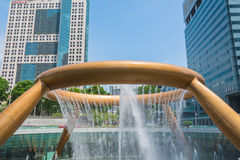 Fountain of Wealth in dusk. Landmark of Singapore Royalty Free Stock Images