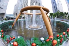 The Fountain of Wealth. Suntec city , singapore :  is listed by the Guinness Book of Records in 1998 as the largest fountain in the world. It is located in stock photo