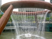 Fountain of wealth in the Guinness book of record as the largest fountain in the world, Singapore, Asia stock photo