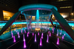 Fountain of wealth. At Suntec city in Singapore Stock Image