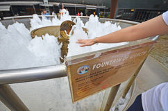 Fountain of wealth at suntec city, singapore Royalty Free Stock Photo