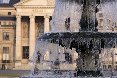 Fountain in  Wiesbaden, Spa house Royalty Free Stock Photo