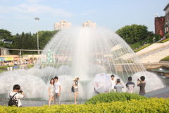 The fountain on the Windows of the world square in NANSHAN SHENZHEN CHINA AISA Stock Photo