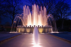 Fountain in Windsor. United Kingdom at twilight Stock Images