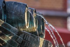 Fountain with wine vessel Royalty Free Stock Photography