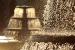 Fountain in winter time Royalty Free Stock Photos