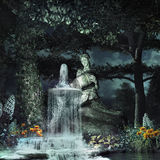 Fountain in the woods Royalty Free Stock Photo