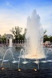 Fountain in World War II memorial, Washington DC Royalty Free Stock Image