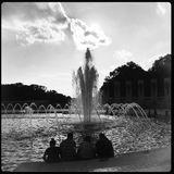 Fountain of World War II Monument, Washington, DC Stock Images