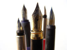 Fountain Writing Pens Stock Photo