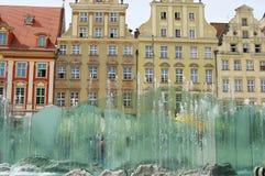 Fountain - Wroclaw - Poland stock photos