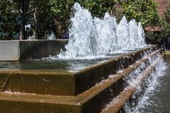 Fountain in Yerba Buena Gardens, San Francisco, California. San Francisco,California,USA - August 2, 2016 : The Fountain in Yerba Buena Gardens Royalty Free Stock Photo