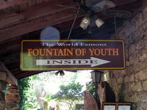 Fountain of Youth sign at St. Augustine, Florida Stock Image