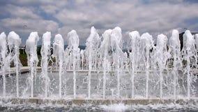Fountain in Zagreb stock video