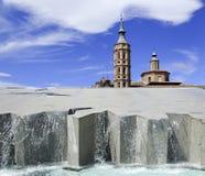 Fountain in Zaragoza Spain Stock Photos