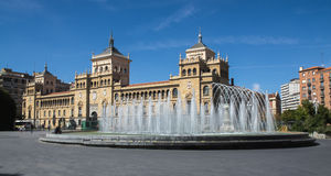 Fountain Zorrilla of Valladolid Stock Images