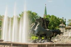 Fountain by Zurab Tsereteli in Alexander Garden in Moscow. Stock Images