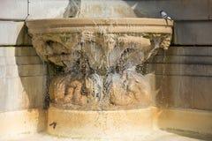 Fountaine of Sacred Heart of Jesus Basilica, Paris. Stock Photo