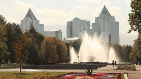 Fountaine Samal Almaty Kazakhstan stock video footage