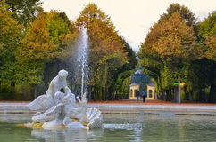 Fountaine in Shonbrunn. Vienna, Austria Stock Photos