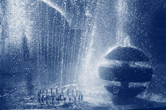 Fountains. Several fountains in blue color Royalty Free Stock Photos