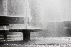 Fountains. Black and white photo of fountains Stock Image