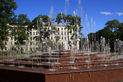 Fountains. In the city of Riga Stock Photos